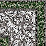 Плитка напольная Византия 300 x 300 матовая рельефная зеленый 774730