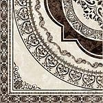 Плитка декор напольная Вулкано 400 x 400 рельефная глазурь бежевый Д11301