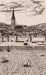 Плитка декор настенная Дамаско 250 x 400 рельефная глазурь бежевый Е61302