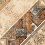 Плитка напольная InterCerama Carpets 43 x 43 темно-коричневый 032