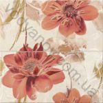 Композиция панно OPOCZNO Lazio beige inserto flower 29 x 59.3 комплект 2 шт