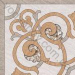Плитка грес / керамогранит глазурованный BELANI Ramina decor 1 beige 41.8 x 41.8