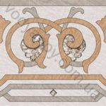 Плитка грес / керамогранит глазурованный BELANI Ramina decor 2 beige 41.8 x 41.8