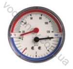 Термоманометр AFRISO горизонтальный