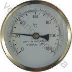 Термометр AFRISO горизонтальный D=  63