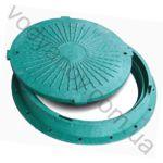 Люк канализационный пластиковый корпус + крышка зеленый МПЛАСТ