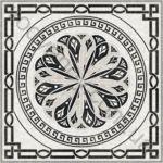 Композиция панно напольное InterCerama Techno 86 x 86 серый 071 комплект 4 шт