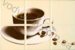 Плитка декор настенная БерезаКерамика РУНА бежевый  20 x 30  кофе дизайн 1