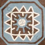 Плитка декор напольная Africa mix 9 186 x 186 Н1Б09