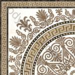 Плитка декор напольная грес Meander Rosette бежевый 400 x 400 2А1810
