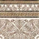 Плитка декор напольная грес Meander Border бежевый 400 x 400 2А1820