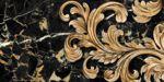 Плитка декор настенная Saint Laurent черный-1 300 x 600 9АС311