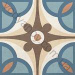 Плитка напольная Victorian mix-3 голубой 186 x 186 1V3130